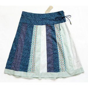 NEW Tie Waist Floral Patchwork Skirt 0  28 x 22.75